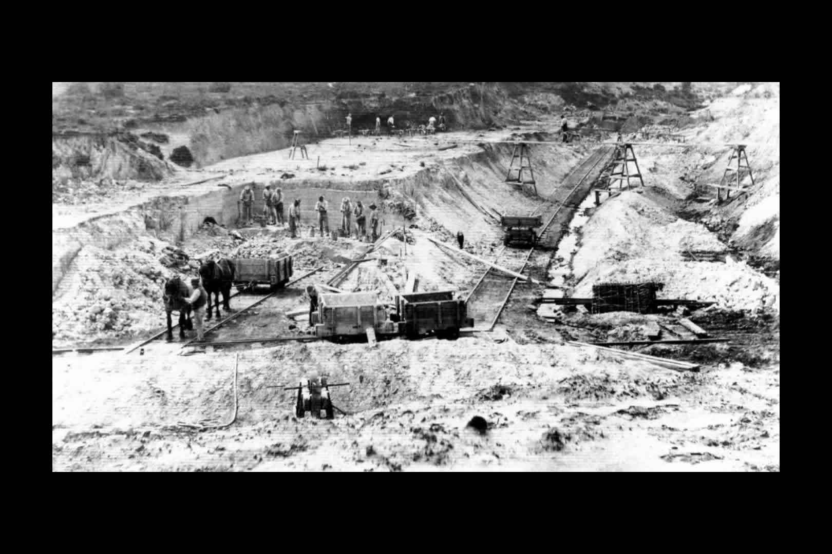 Norden open cast clay pit 1880s