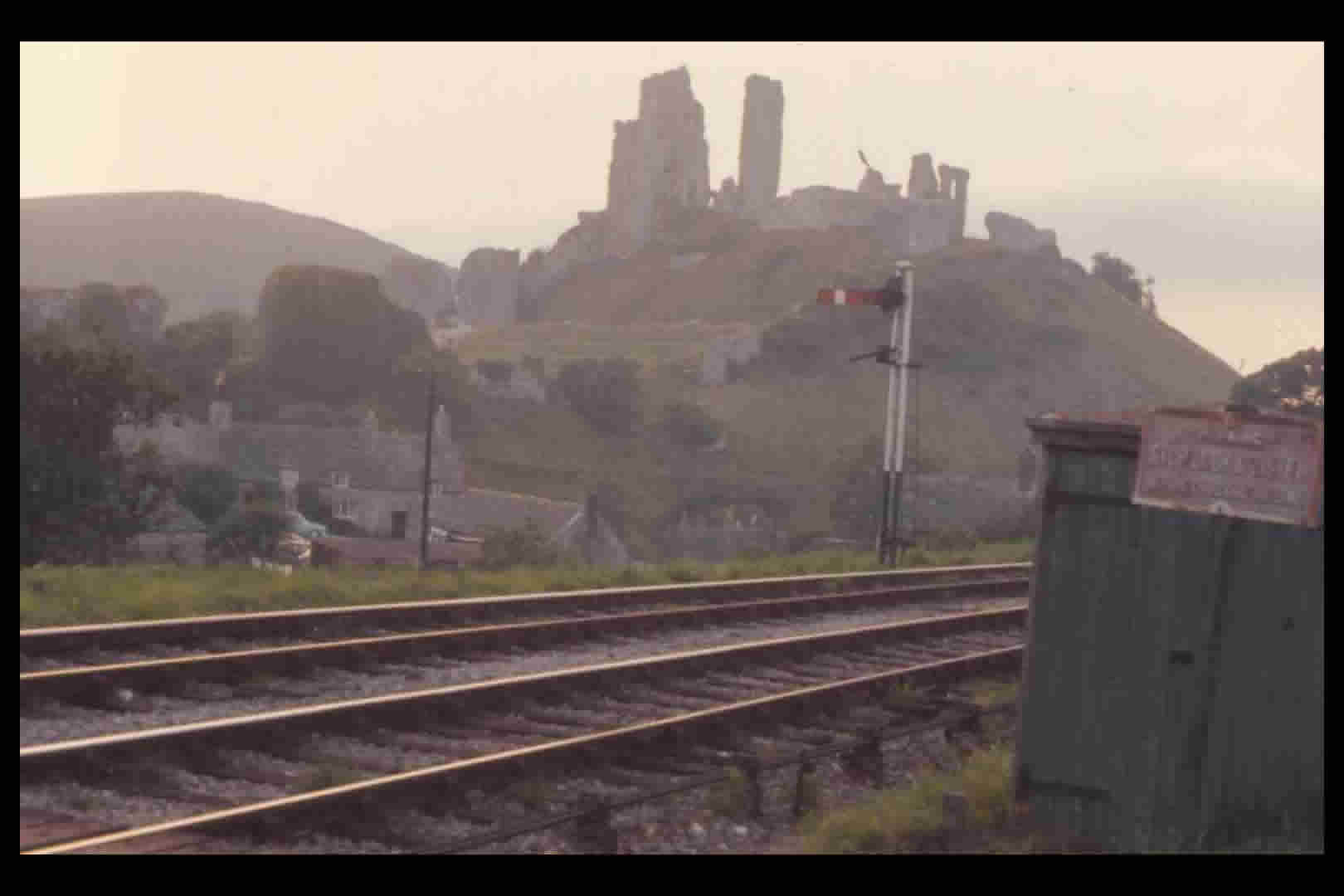 Narrow gauge lines at Corfe Castle 1960s
