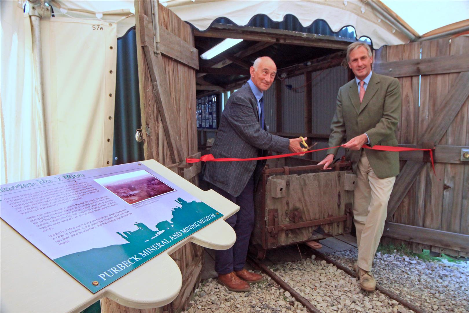 Paul Atterbury (L) & Richard Drax (R) PMMM official opening Norden.