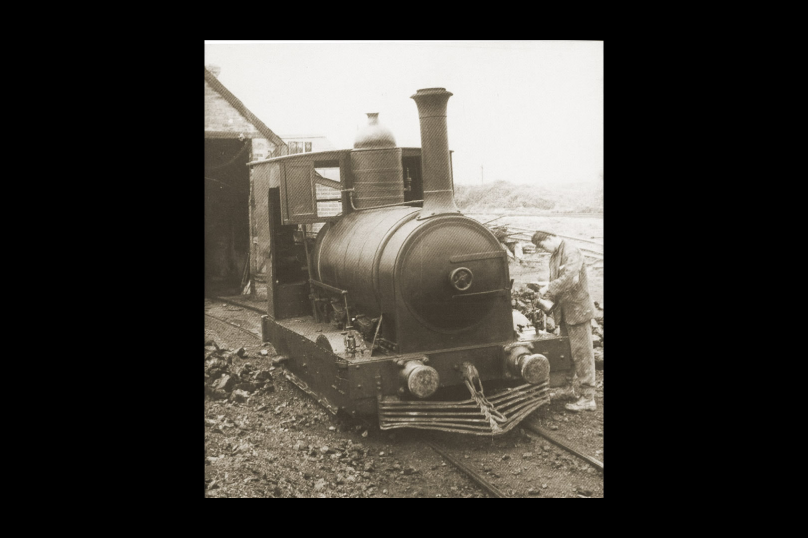 Secundus outside Furzebrook loco shed